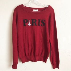 "NWT Ultra Flirt ""Paris"" Crew Neck Pullover"